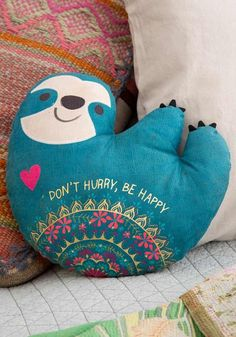 Search results for: 'sloth happy pillow' Natural Life Everyone LOVES pillows… you can never have too many pillows! Add these cute printed and embroidered Happy Pillows to your bed or couch to make any space a little cozier happier! Baby Sloth, Cute Sloth, Get Happy, My Spirit Animal, Natural Life, Design Projects, Cute Animals, Cricut, Throw Pillows