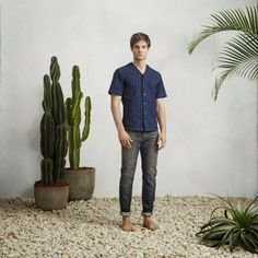 El denim: protagonista del lookbook de primavera de Simon Miller | Male Fashion Trends