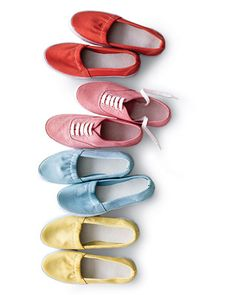 DIY- Dyed Canvas Sneakers- great idea for that clothing that you can't find the right shoes to match?