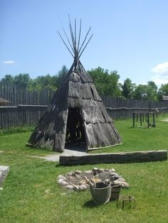Sainte-Marie among the Hurons was a French Jesuit settlement in Wendake, the… Canadian History, Native American History, Midland Ontario, Canada Images, Sainte Marie, Teepees, O Canada, Largest Countries, We Are The World