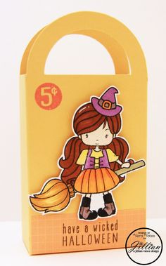 A Jillian Vance Design: Wicked Candy Bag #BroomRides #stamps #Copics #witch #halloween #wicked #whimsiedoodles #cre8time #candybag #ajillianvancedesign