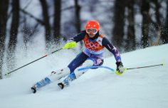 DAY 15:  Julia Ford of the USA competes during the Alpine Skiing Women's Slalom http://sports.yahoo.com/olympics