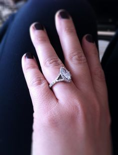 Perfect He put a ring on it My beautiful marquise engagement ring marquise