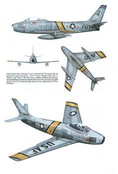 F-86 sabre no tempo da Guerra da Coréia.