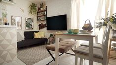 This Condo in QC Has Cool Space-Saving Hacks for Families -- Markee ang galing mo sis Smart Furniture, Space Saving Furniture, Condo Decorating, Interior Decorating, Condo Interior Design, Quirky Home Decor, House And Home Magazine, Two Bedroom, Cozy House
