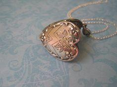 Vintage Silver Heart Locket