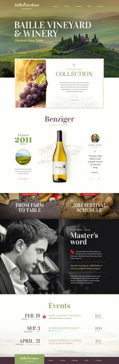 Baille&Groham vineyards co. concept UI web design by Mike | Creative Mints on dribbble.
