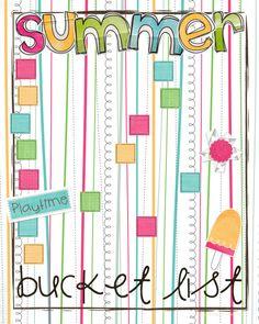 summer bucket list - free printable