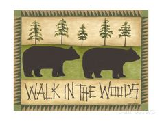 Walk in the Woods Poster by Cindy Shamp at AllPosters.com