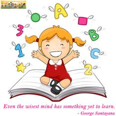 Royalty-Free (RF) Clipart Illustration of a Little School Girl Sitting On A Book With Shapes, Letters And Numbers Flying Above by BNP Design Studio Clip Art Pictures, Forest Design, Free Cartoons, School Decorations, Activity Sheets, Cartoon Kids, Drawing For Kids, Letters And Numbers, Happy Kids