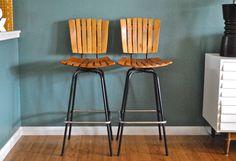 mid century steel bar stool - Google Search
