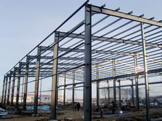 Steel structure workshop has wide use, long service term, easy install. Contact us for industrial steel structure/high quality steel structure! Building Systems, Building Materials, Building Design, Prefabricated Structures, Prefabricated Houses, Steel Trusses, Steel Columns, Steel Structure Buildings, Building Structure