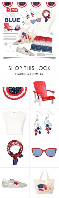 """Red White & Blue: Celebrate the 4th!"" by judysingley-polyvore ❤ liked on Polyvore featuring DutchCrafters, Puma, Polo Ralph Lauren, Golden Goose, Marc Jacobs and fourthofjuly"