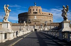 """#CASTEL_SANT'ANGELO:   Castle of the #Holy #Angel, also known as #Mausoleum of #Hadrian, is connected to the #Vatican through the fortified corridor """"il Passetto"""". Later used by the popes as fortress, residence and prison, the building was commissioned by the #Emperor #Hadrian in 125 AD and it was completed in 139 AD. Castel Sant'Angelo is in front of #Campo #Marzio to which is joined by #Ponte #Elio. - Nearby: Pantheon, Piazza Navona."""