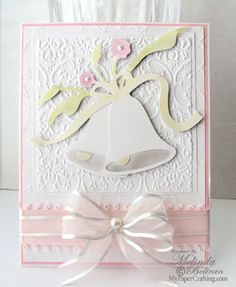 cricut wedding card | Here is my second card. I made this using the wedding bells cut on ...