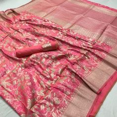 Style Array Present Beautiful Pink Color Pure Silk Branded Saree. Buy This Attractive Look Beautiful Pink Color Pure Silk Branded Saree Silk Saree Banarasi, Banaras Sarees, Soft Silk Sarees, Cotton Saree, Kanchipuram Saree, Georgette Sarees, Latest Sarees, Party Wear Sarees, Fancy Sarees