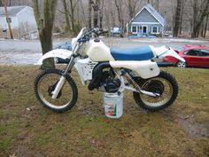 1985 Husqvarna 250WR, running now & plastic partial restored with steel wool,  Bike cleaned up, pic #2..sold