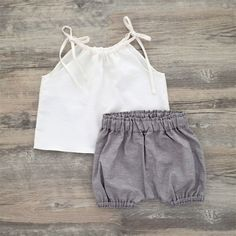 Eco Friendly Clothing Organic Cotton Bloomers Brown Chambray