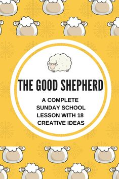 The Good Shepherd - a complete Sunday school lesson with 18 creative ideas for your children's ministry - Lots of fun and useful games, prayer ideas and activities that you can use on Jesus being the Good Shepherd and the church as a flock. Preschool Sunday School Lessons, Kids Church Lessons, Sunday School Curriculum, Sunday School Crafts For Kids, Preschool Bible Lessons, Sunday School Activities, Bible Lessons For Kids, Children's Sunday School, Children Church