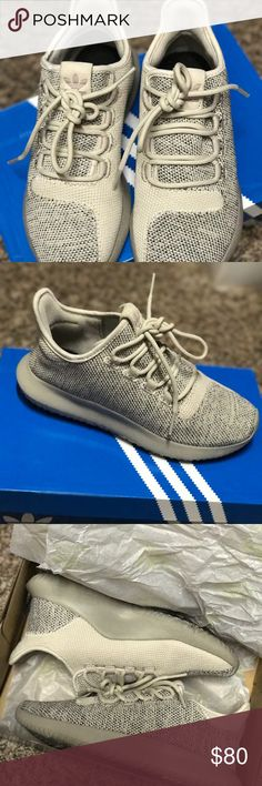 Adidas Tubular Shadow Adidas Tubular Shadows only used once! Pair them with  jeans for a casual look, or your favorite workout outfit. Size is 4 in boys  but ...
