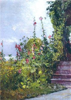 Celia Thaxter's Garden, Appledore, Isles of Shoals - Childe Hassam