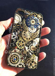 Для телефонов ручной работы. Стимпанк чехол на телефон, чехол в стиле стимпанк,часы/steampunk. Анна Устинова  -Steampunk master-. Ярмарка Мастеров.