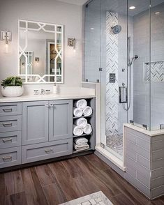 Bathroom design layout 3 Modern Small Bathroom Ideas - Great Bathroom Renovation Ideas That Will Blo Grey Bathrooms, Beautiful Bathrooms, Modern Bathroom, Bathroom Interior, Brown Bathroom, Modern Vanity, Master Bathrooms, Simple Bathroom, Bathrooms Online