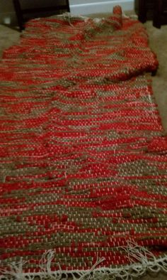 Red's and Brown's by TwiceisNiceBooBooRug on Etsy, $104.00