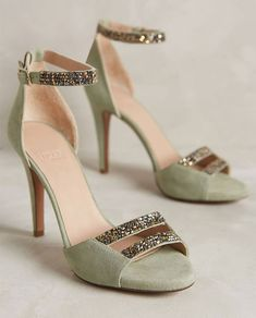 Add some sparkle to your wedding look with these shoes.