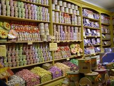 Paris candy shop - taffy bins I....need...to...go...THERE!!!!!!