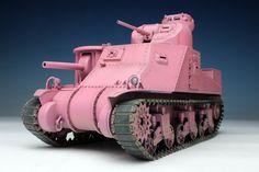 Platz Girls Und Panzer Lee Rabbit Team Model 0320 for sale online Plastic Model Kits, Plastic Models, Usagi San, M3 Lee, Team Models, Pink Color, Action Figures, Rabbit, Girls