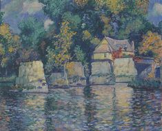 Theodore Earl Butler - The Red Bridge In Vernon Near Giverny, 1909