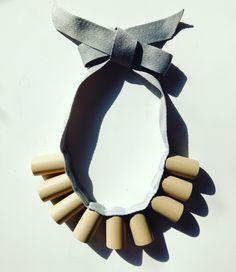Elnaz Yazdani Cork Necklace Design.