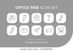 Stock Photo and Image Portfolio by Abbidzart Office Web, Business Icon, Vector Icons, Icon Set, Stock Photos, Image, Icons