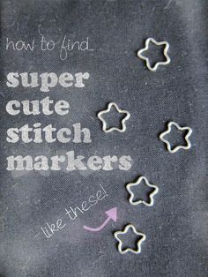 how to make cute stitch markers