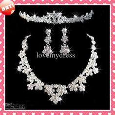Stock 2017 Fashion Flowers Crystals Three Pieces Tiaras Crowns Earrings Necklace Rhinestone Wedding Bridal Sets Jewelry Set Jewerly Wholesale Wedding Jewelry Sets Affordable Bridesmaid Jewelry From Lovemydress, $10.41| Dhgate.Com
