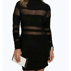 Little Black dress Plus size black dress with sheer panels. Size 14. NWT. Dresses Mini