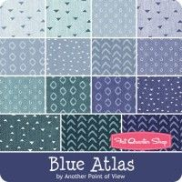 Blue Atlas Fat Quarter BundleAnother Point of View for Windham Fabrics