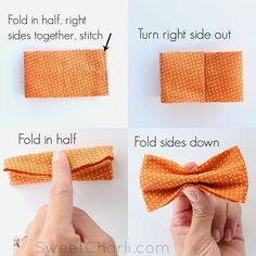 DIY simple Bow Tie – sewing                                                                                                                                                      More