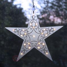 Lampe décorative LED étoile en acrylique Leia, référence 1522613- Décoration, DIY et lumière de Noël chezLuminaire.fr!
