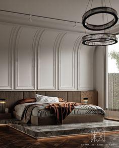 Bedroom Wall Designs, Wardrobe Design Bedroom, Luxury Bedroom Design, Bedroom Bed Design, Bedroom Styles, Master Bedroom, Autocad, Adobe Photoshop, Luxurious Bedrooms
