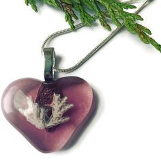 Heart Necklace, Pink Heart Pendant, Love Necklace, Pink Heart, Fossil, Science jewelry, Glass Heart, Fused Glass Necklace, Valentines Gift by thejeremiahtreeglass. Explore more products on http://thejeremiahtreeglass.etsy.com