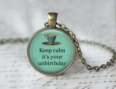 Mad Hatter Necklace Will Help You Celebrate Your Unbirthday!
