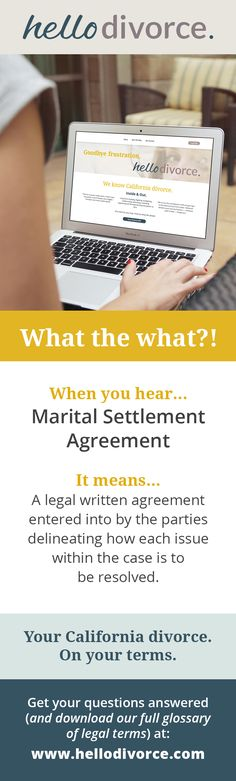 Divorce settlement agreement software from divorce attorney Ed