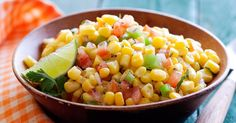 Summer Corn Salad recipe from Food Network Kitchen via Food Network (add Old Bay too! Fresh Corn Salad, Summer Corn Salad, Summer Salads, Mulligatawny, Corn Salad Recipes, Corn Salads, Savory Salads, Cabbage Recipes, Easy Salads