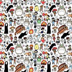 bestof-society6:   Kawaii Ghibli Doodle by KiraKiraDoodles