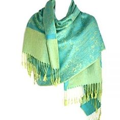 Jacquard Paisley Pashmina Shawl Scarf Stole Wrap (Turquoise Blue): Amazon.co.uk: Clothing
