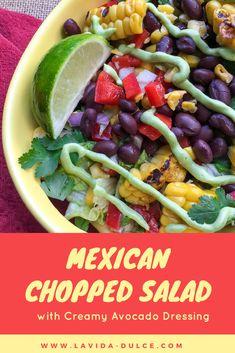 Mexican Chopped Salad #cincodemayo #mexicanfood #mexicanrecipes #salad #choppedsalad #avocado #corn
