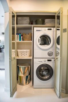 9 utility room design ideas for (really) small spaces Small Utility Room, Utility Room Storage, Utility Room Designs, Small Laundry Rooms, Laundry Room Organization, Utility Room Ideas, Laundry Storage, Storage Shelves, Organization Ideas