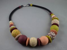 Polymer clay necklace.